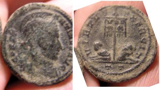 Follis de Constantino I, Virtus Exercit