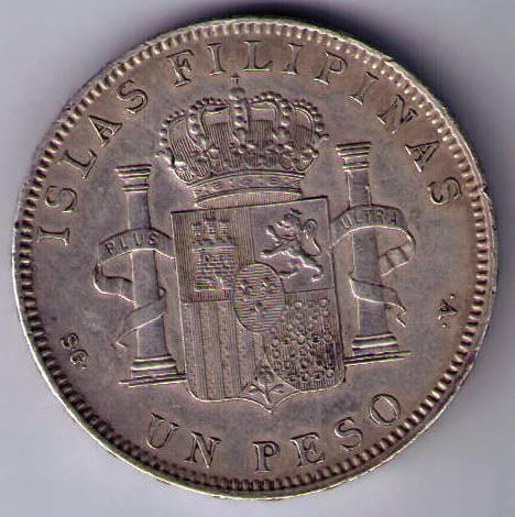 Reverso: Peso de Manila.