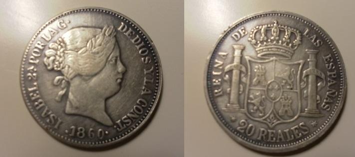 20 reales 1860