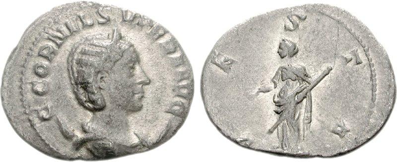Antoniniano de Cornelia Supera VESTA.