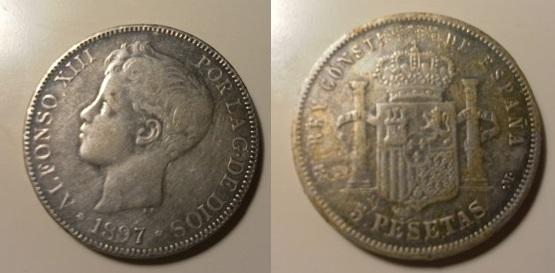 5 pesetas 1897