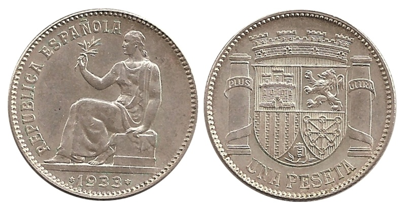 II República. 1 Peseta 1933.