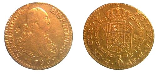 Escudo de Carlos IV de 1793 ceca Sevilla.