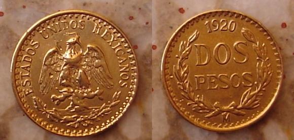 2 pesos de 1920
