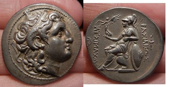 Tetradracma eubeo-ático. Lisímaco. Tracia. (305-281 A.C).
