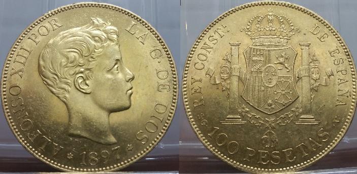 100 Pesetas Alfonso XIII 1897
