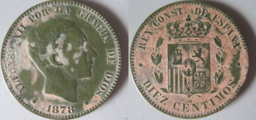 DIEZ CENTIMOS DE ALFONSO XII