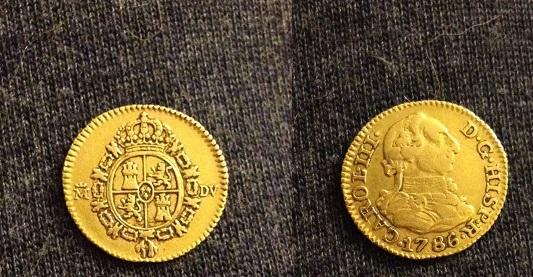 Medio Escudo de Carlos III 1786 ceca Madrid