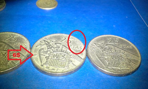 25 pesetas ano de 1957 Franco - 001