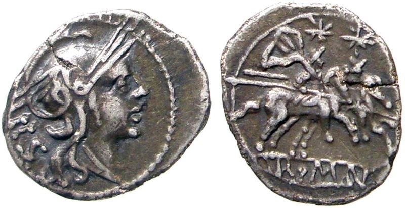 Sestercio republicano anónimo 211-208 a.C.