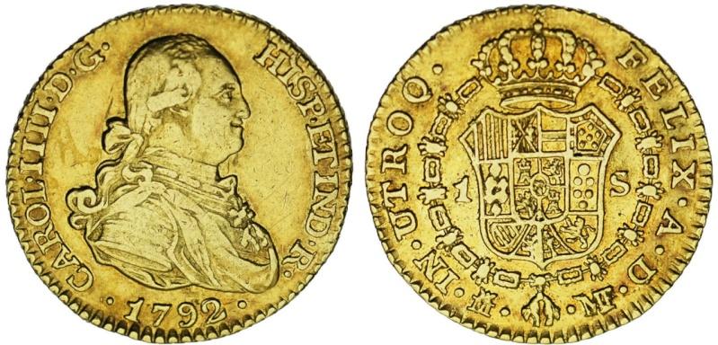 1 Escudo de 1792