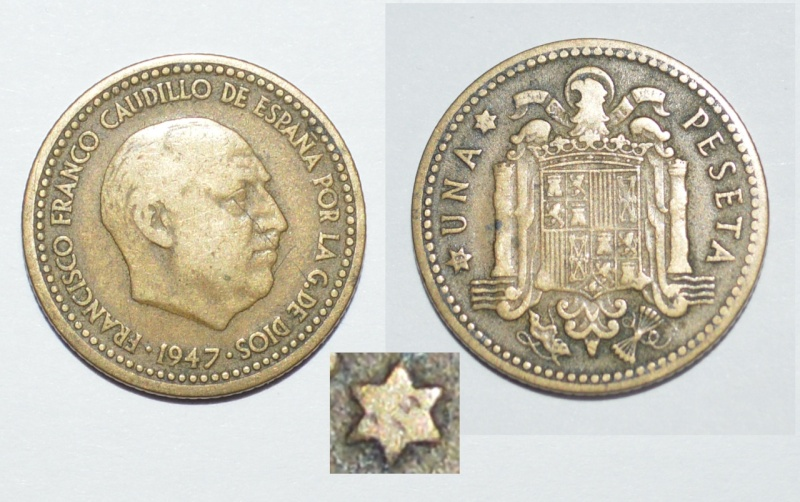 1 peseta 1947 Estrella 54