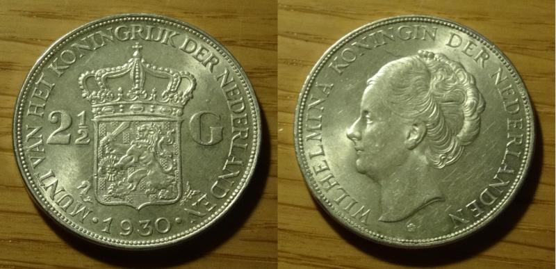 PAISES BAJOS - Guillermina de Orange - 2 1/2 Florines - 1930