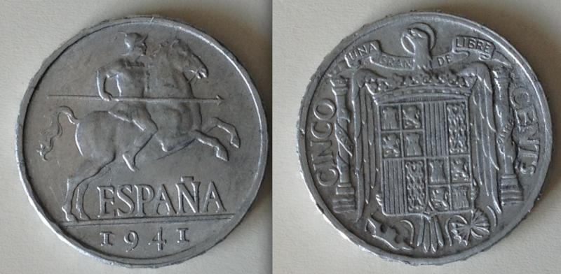 5 centimo de Franco 1941