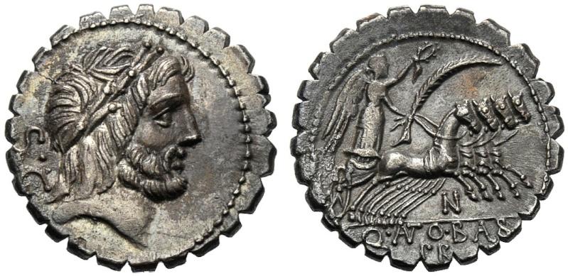 Denario serrado. Quintus Antonius Balbus. Republica de Roma. 83-82 A.C. Roma.