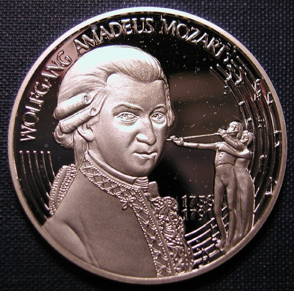 Moneda conmemorativa Mozart