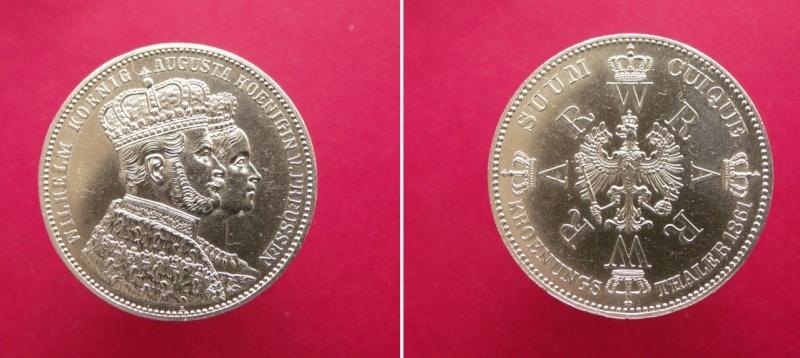 Alemania - Prusia, 1 Thaler de 1861 Wilhelm I