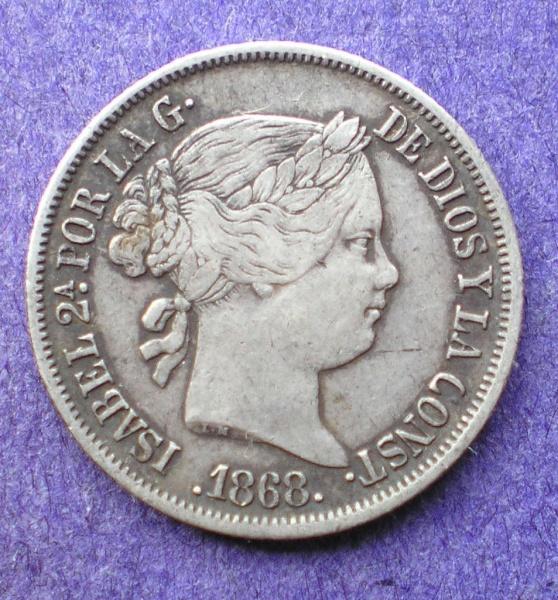 20 Centavos de peso 1868