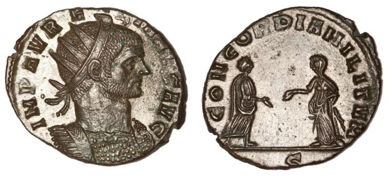Antoniniano de Aureliano CONCORDIA MILITVM.