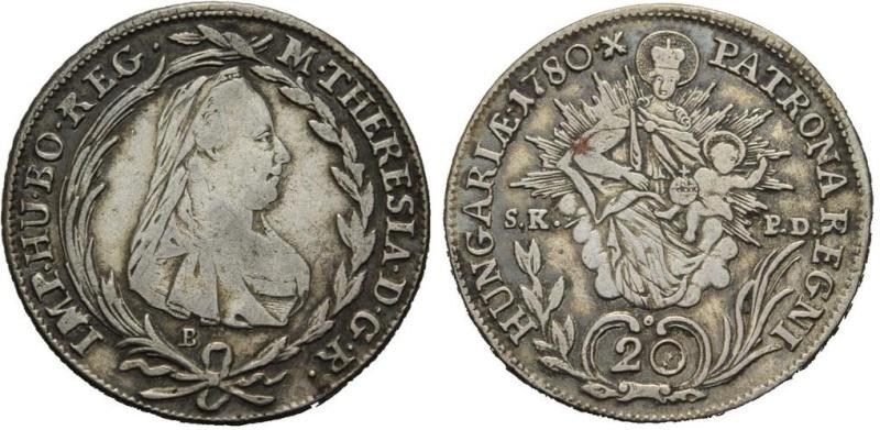 Austria Hungría, Maria Theresa, 20 Kreuzer 1780