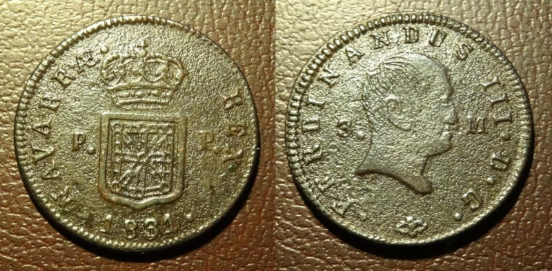 NAVARRA - Fernando III - 3 Maravedis -  1831 - Ceca de Pamplona