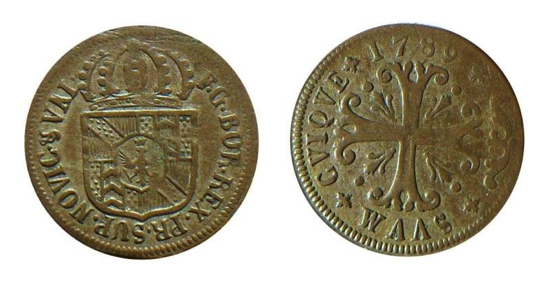 Suiza - Canton de Neuchatel. ½ Batzen de 1789