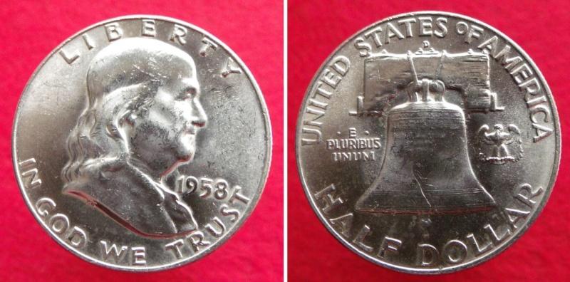 Estados Unidos, ½ Dólar de 1958 Franklin
