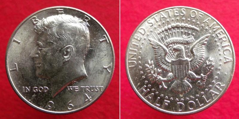 Estados Unidos, ½ Dólar de 1964, Kennedy