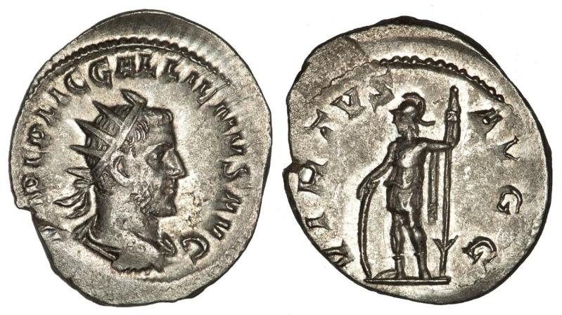 Antoniniano de Gallieno VIRTVS AVGG.