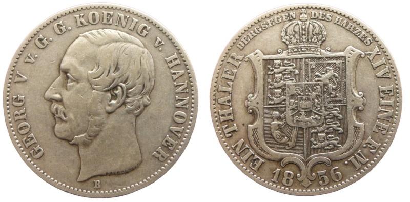 Alemania - Hannover. 1 Vereinstaler de 1856