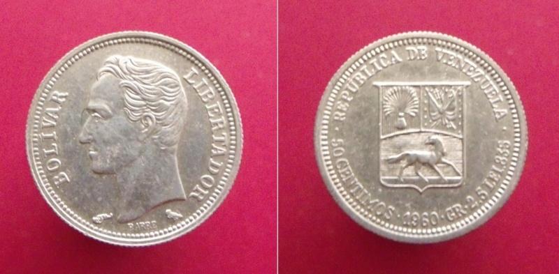 Venezuela, 50 céntimos de 1960