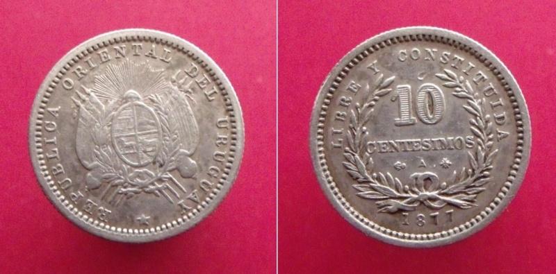 Uruguay, 10 centésimos de 1877