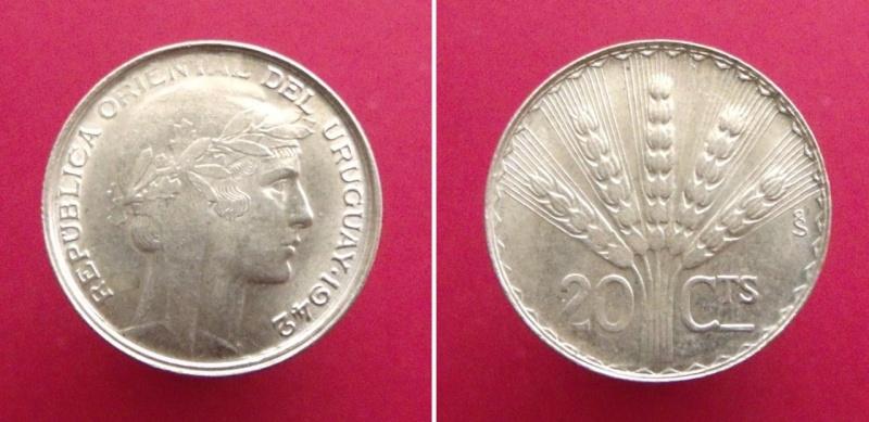 Uruguay, 20 centésimos de 1942