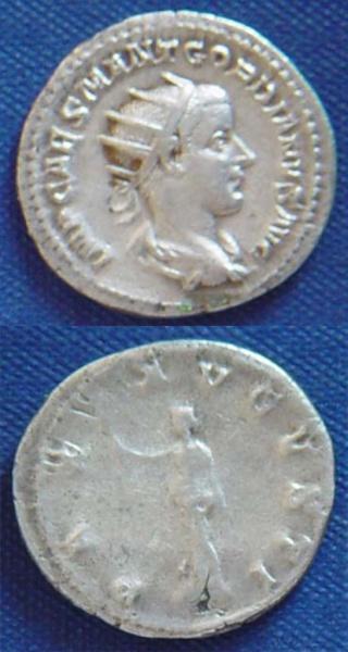 Antoniniano de Gordiano III PAX-AUGUSTI