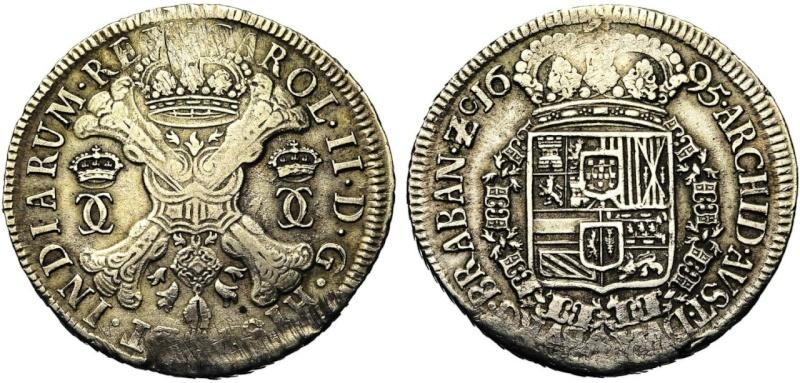 Paises Bajos - Carlos II. Patagon de Amberes 1695
