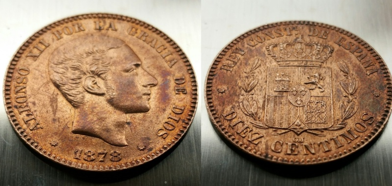 10 CÉNTIMOS 1878 ALFONSO XII