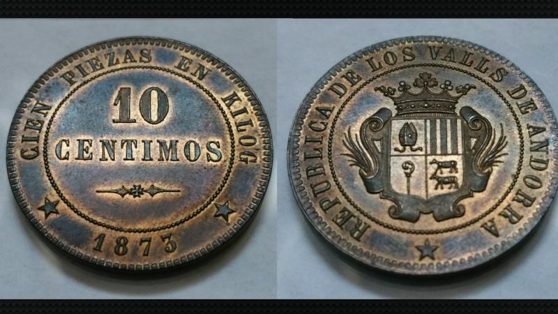 10 CÉNTIMOS 1873 ANDORRA
