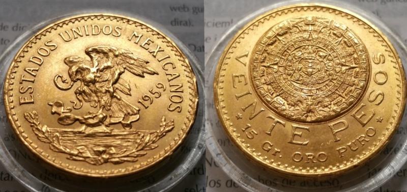 20 PESOS MÉXICO 1959
