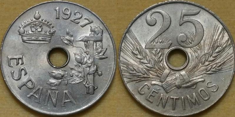 25 Céntimos Alfonso XIII 1927