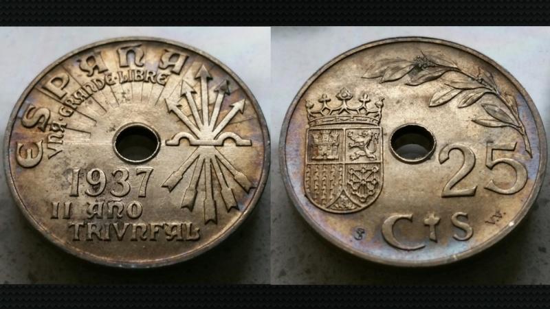 25 Céntimos Estado Español 1937