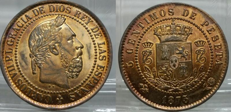 5 CÉNTIMOS 1873 CARLOS VII