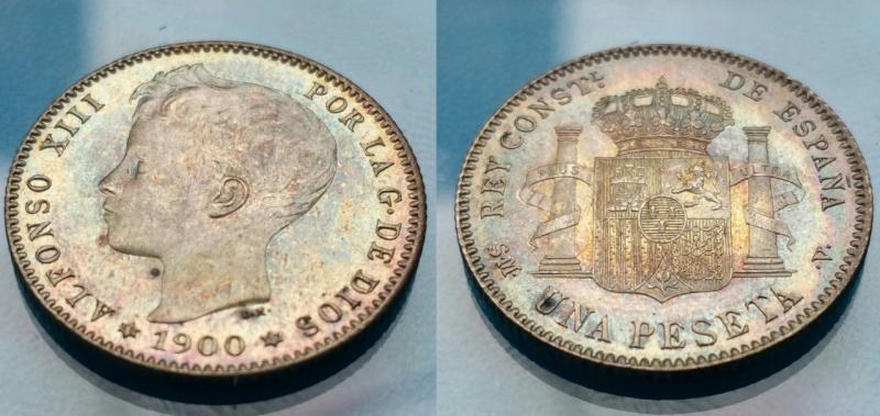 1 peseta 1900