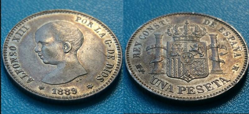 1 Peseta Alfonso XIII 1889