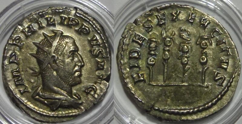 Antoniniano de Filipo I. 248-249. Roma. FIDES EXERCITVS.