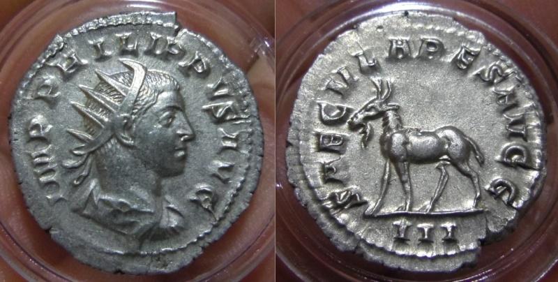 Antoniniano. Filipo II (Serie de los Juegos Seculares). 248. Roma (Tercera oficina).