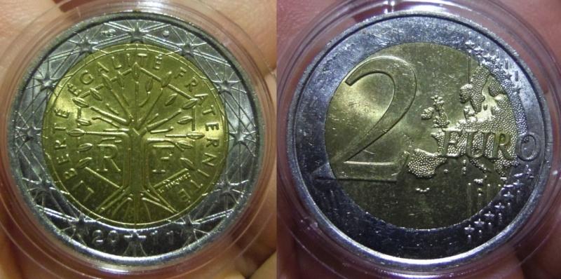 2 Euros. Francia. Pessac. 2011. SC.