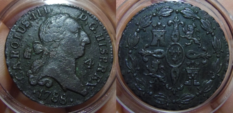 4 Maravedís. Carlos III. Segovia. 1788.