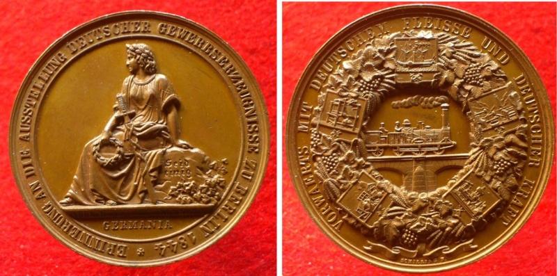 Alemania - Prusia, Medalla Expo. Industrial 1844