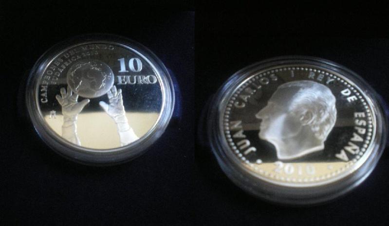 10€ conmemorativos de España campeona del mundo