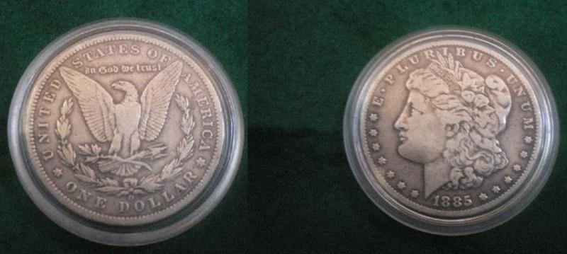 1$ americano de 1885